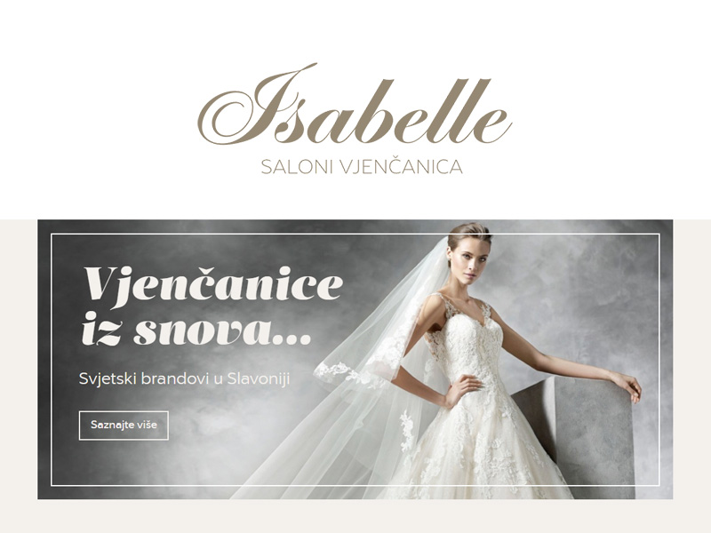Isabelle - Wedding dress saloon in Đakovo, Osijek and Slavonski Brod